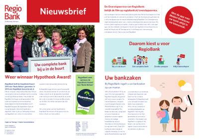 Regiobank Nieuwsbrief april 2015